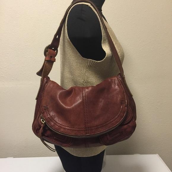 5e7f39564cd Lucky Brand Handbags - LUCKY BRAND Stash Brown Soft Lamb Leather Bag